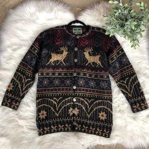 Dale of Norway Nordic Pure Wool Reindeer Sweater